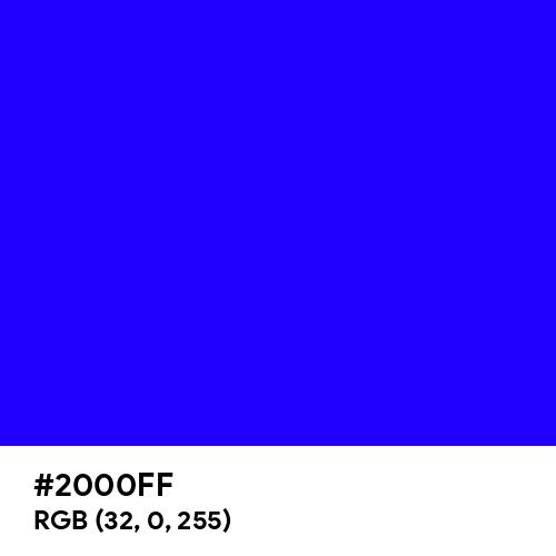 Electric Ultramarine (Hex code: 2000FF) Thumbnail