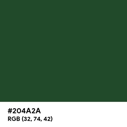 Cal Poly Pomona Green (Hex code: 204A2A) Thumbnail