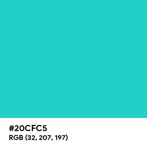 Maximum Blue Green (Hex code: 20CFC5) Thumbnail