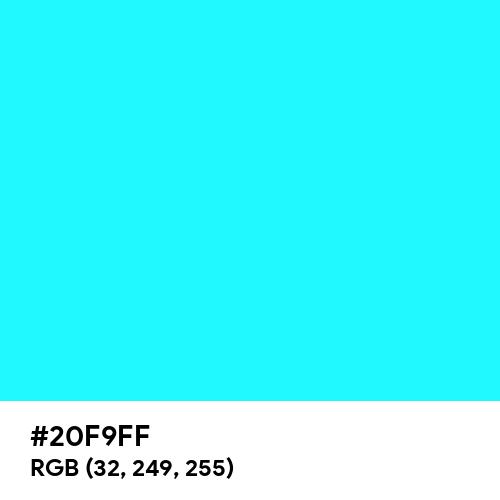 Fluorescent Blue (Hex code: 20F9FF) Thumbnail