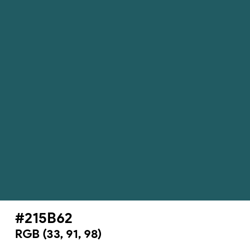 Dark Slate Gray (Hex code: 215B62) Thumbnail