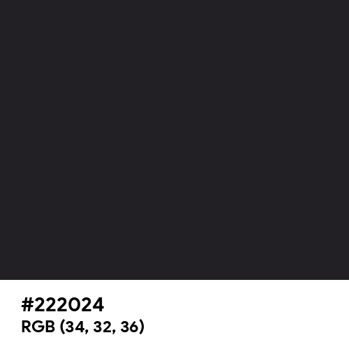 Bright Black (Hex code: 222024) Thumbnail