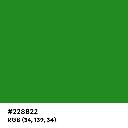 Forest Green (Hex code: 228B22) Thumbnail