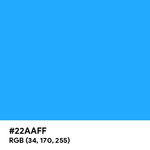 Button Blue (Hex code: 22AAFF) Thumbnail