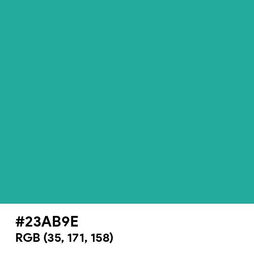 Light Sea Green (Hex code: 23AB9E) Thumbnail