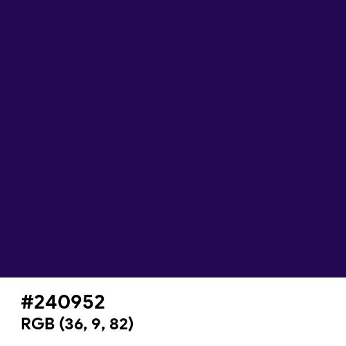 Royal Indigo (Hex code: 240952) Thumbnail