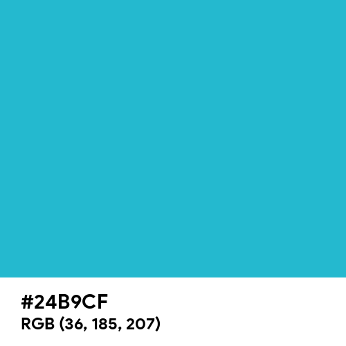 Ball Blue (Hex code: 24B9CF) Thumbnail