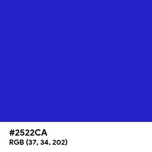 Permanent Blue (Hex code: 2522CA) Thumbnail