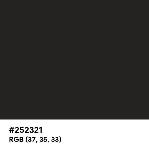 黒橡 (Kurotsurubami) (Hex code: 252321) Thumbnail