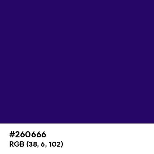 Deep Violet (Hex code: 260666) Thumbnail