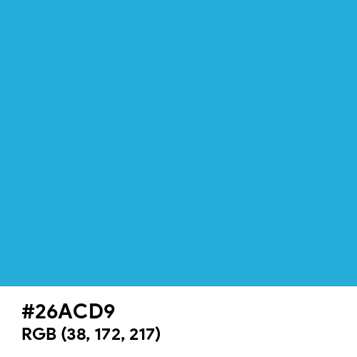 Battery Charged Blue (Hex code: 26ACD9) Thumbnail