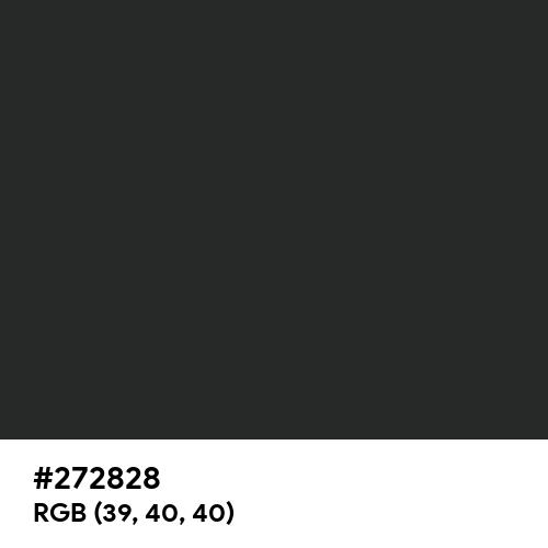 Charleston Green (Hex code: 272828) Thumbnail