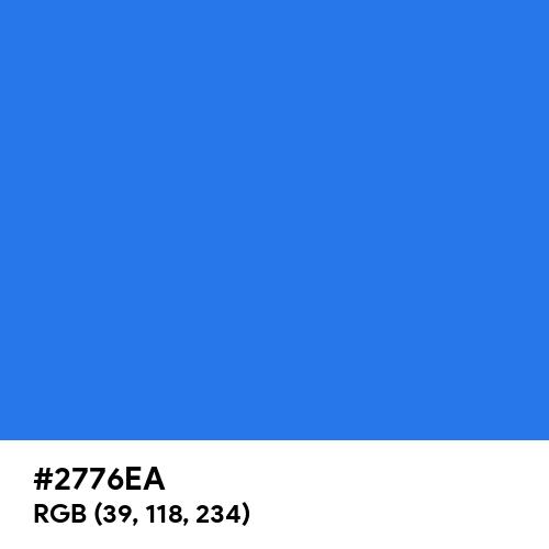 Tech Blue (Hex code: 2776EA) Thumbnail