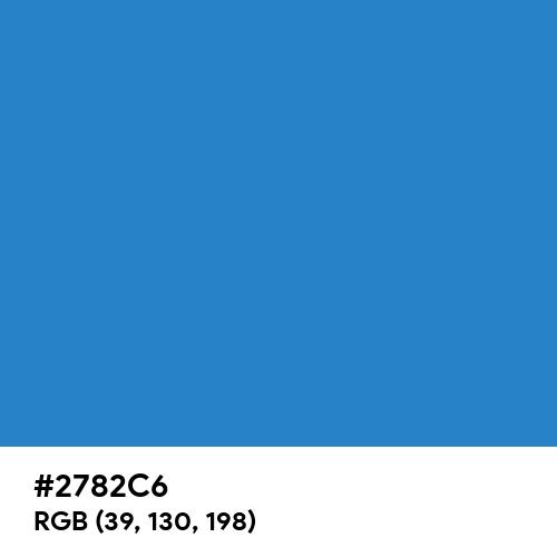 Cyan Cornflower Blue (Hex code: 2782C6) Thumbnail