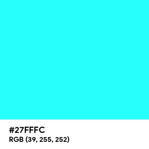 Fluorescent Blue (Hex code: 27FFFC) Thumbnail