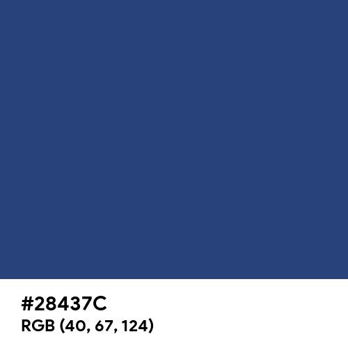 Dark Cornflower Blue (Hex code: 28437C) Thumbnail