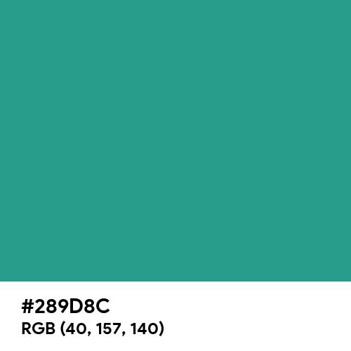 Dark Aquamarine (Hex code: 289D8C) Thumbnail