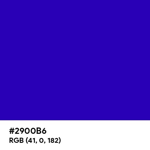 Neon Blue (Hex code: 2900B6) Thumbnail