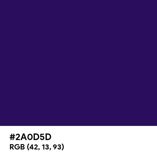 Dark Indigo (Hex code: 2A0D5D) Thumbnail