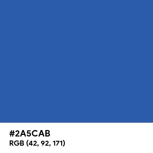 Bright Blue CMYK (Hex code: 2A5CAB) Thumbnail