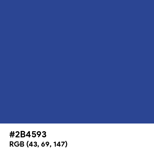 Marian Blue (Hex code: 2B4593) Thumbnail