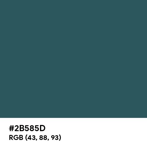 Dark Slate Gray (Hex code: 2B585D) Thumbnail