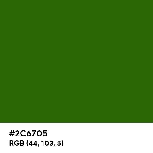 Bamboo (Hex code: 2C6705) Thumbnail
