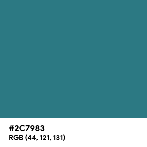 Teal Blue (Hex code: 2C7983) Thumbnail