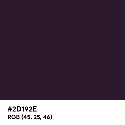 Dark Purple (Hex code: 2D192E) Thumbnail