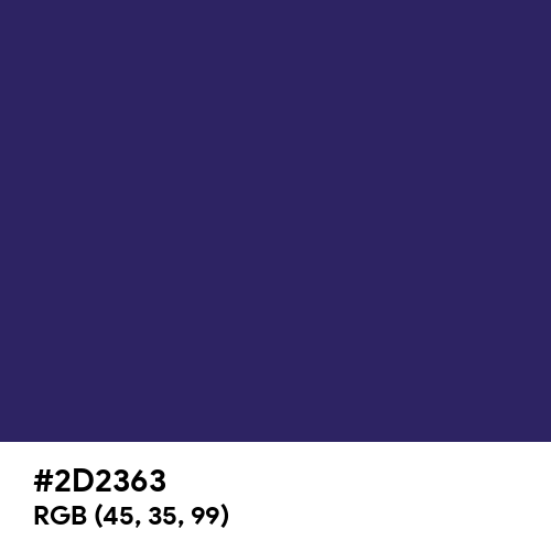 Navy Blue (Hex code: 2D2363) Thumbnail