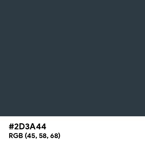 Grey Blue (RAL) (Hex code: 2D3A44) Thumbnail