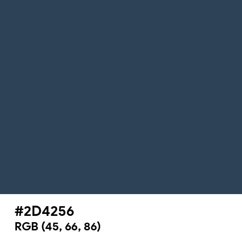 Charcoal Blue (Hex code: 2D4256) Thumbnail