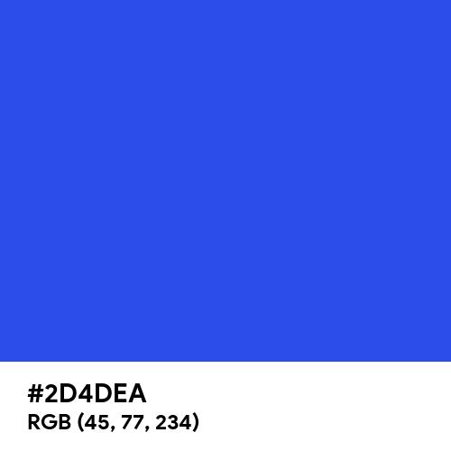 Palatinate Blue (Hex code: 2D4DEA) Thumbnail