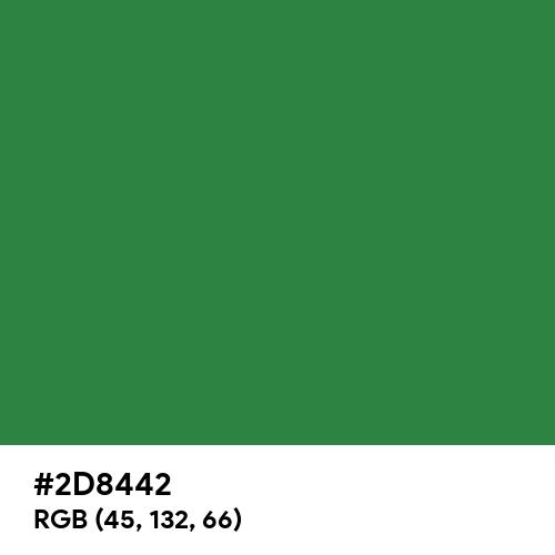 Vintage Emerald (Hex code: 2D8442) Thumbnail