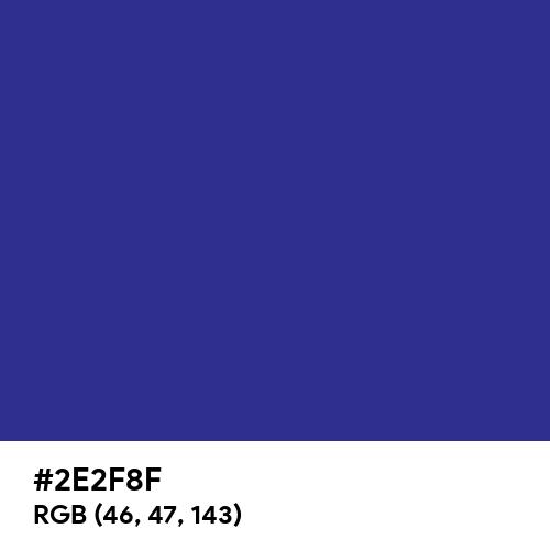 Blue CMYK (Hex code: 2E2F8F) Thumbnail