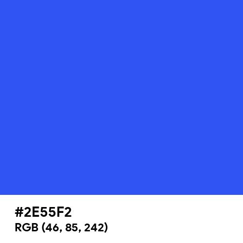 Ultramarine Blue (Hex code: 2E55F2) Thumbnail