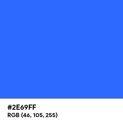 Blue (Crayola) (Hex code: 2E69FF) Thumbnail