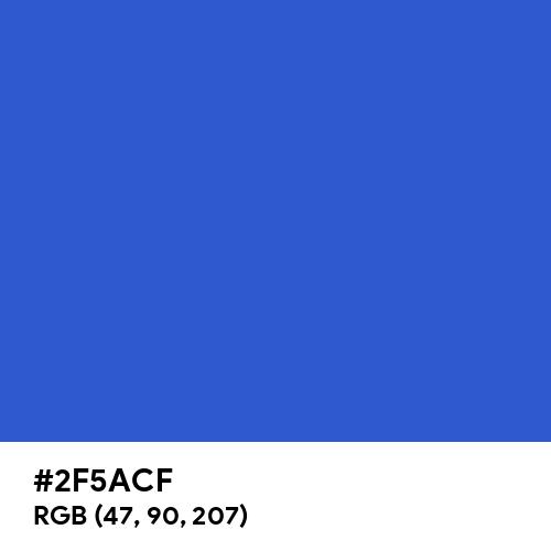 Cerulean Blue (Hex code: 2F5ACF) Thumbnail