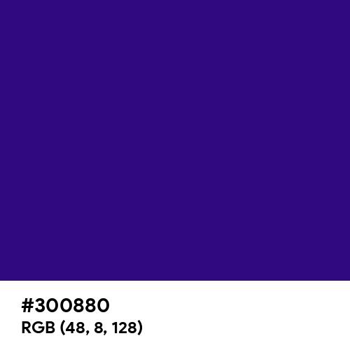 Persian Indigo (Hex code: 300880) Thumbnail