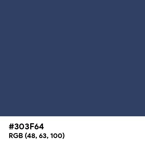 Deep Koamaru (Hex code: 303F64) Thumbnail