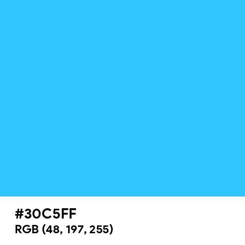 Highlighter Blue (Hex code: 30C5FF) Thumbnail