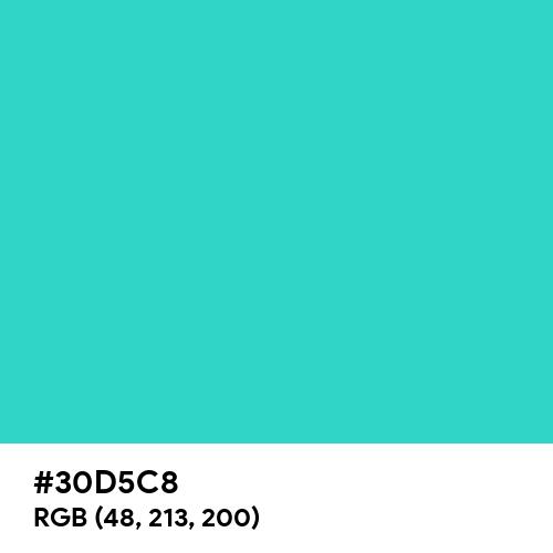 Turquoise (Hex code: 30D5C8) Thumbnail
