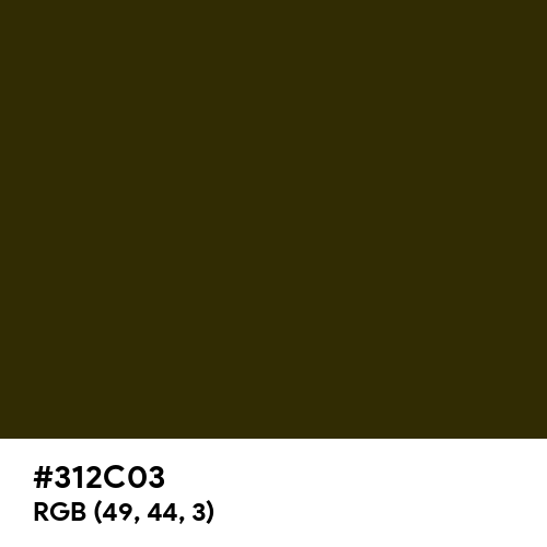 American Bronze (Hex code: 312C03) Thumbnail