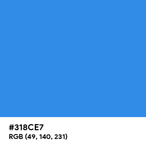 Bleu de France (Hex code: 318CE7) Thumbnail