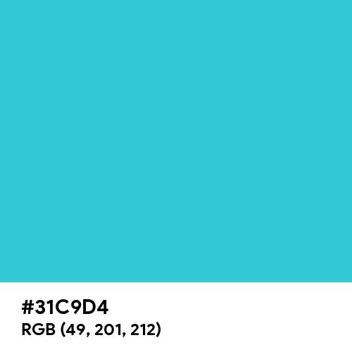 Matrix Blue (Hex code: 31C9D4) Thumbnail