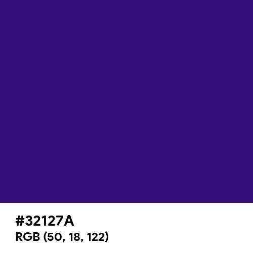 Persian Indigo (Hex code: 32127A) Thumbnail