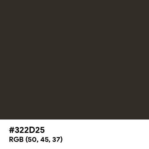 Night Brown Black (Hex code: 322D25) Thumbnail