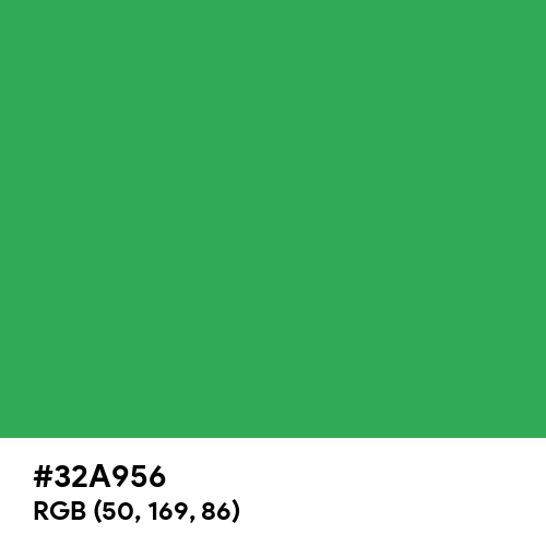 Retro Green (Hex code: 32A956) Thumbnail