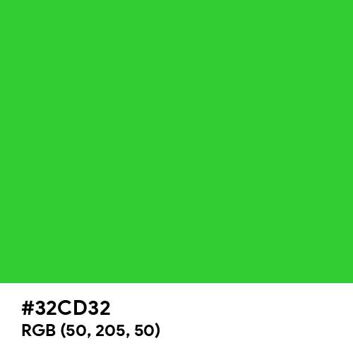 Lime Green (Hex code: 32CD32) Thumbnail