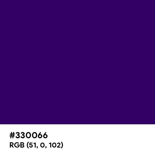 Deep Violet (Hex code: 330066) Thumbnail